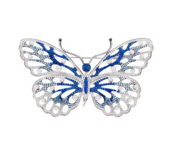 Sterling Silver Cultured Pearl Butterfly