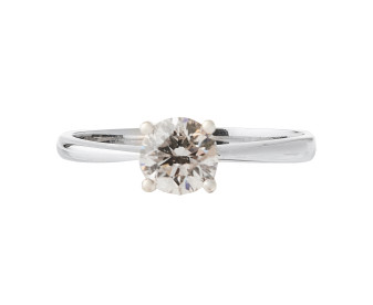 18ct White Gold Certified 0.55ct Diamond Solitaire Ring