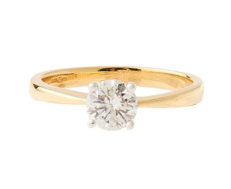 18ct Gold Certified 0.55ct Diamond Solitaire Ring