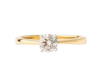 18ct Gold Certified 0.51ct Diamond Solitaire Ring