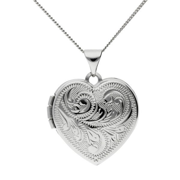 Sterling Silver 1.70cm Traditional Heart Locket