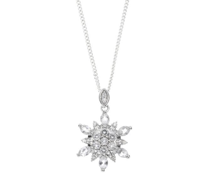 Limited Edition 9ct White Gold Topaz Pendant