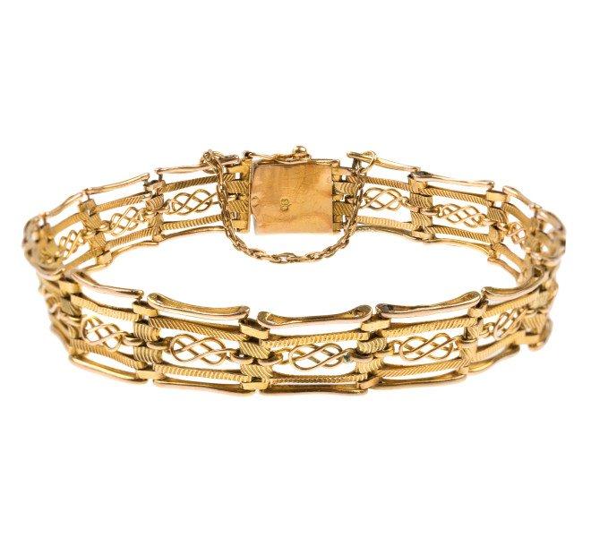 Vintage Fancy Gate Bracelet
