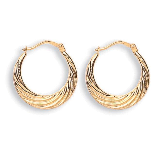 9ct Yellow Gold Hoop Earrings