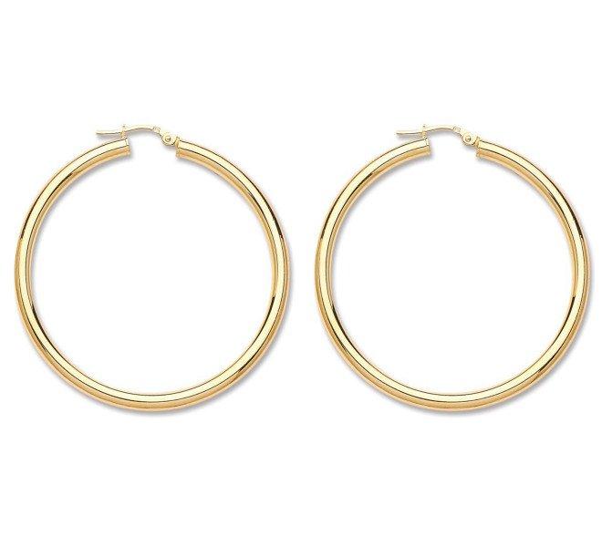 9ct Yellow Gold Large Hoop Earrings
