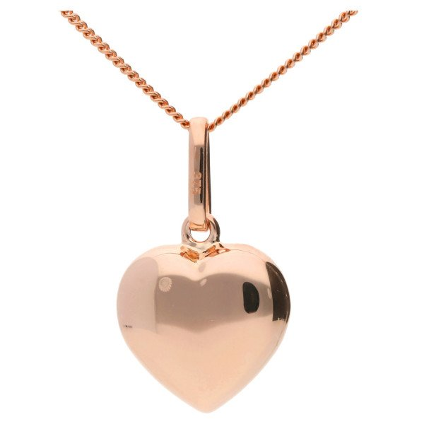9ct Rose Gold Heart Pendant