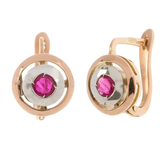 Handcrafted Italian Ruby Earrings
