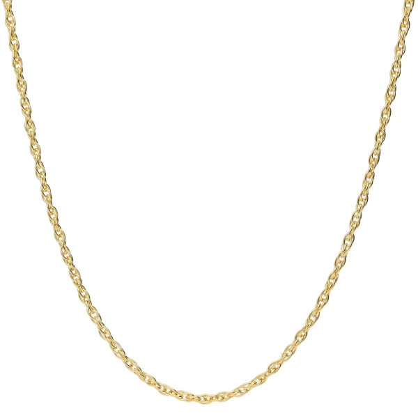 9ct Yellow Gold 1.4mm Prince Of Wales Rope Chain