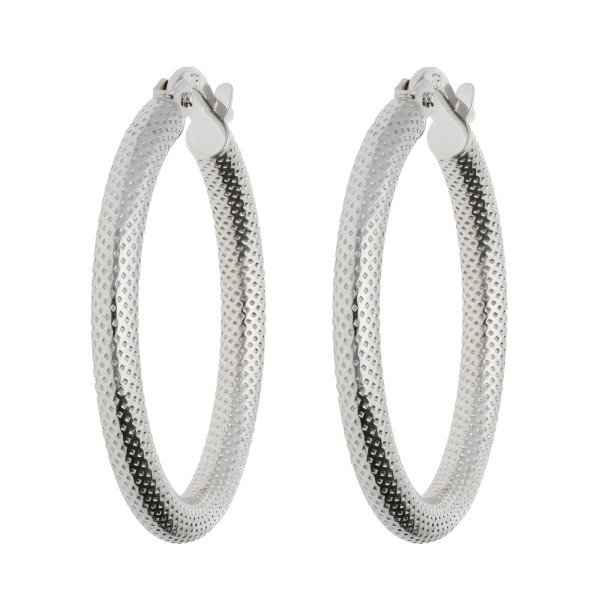18ct White Gold Hoop Earrings Uk Best All Earring Photos