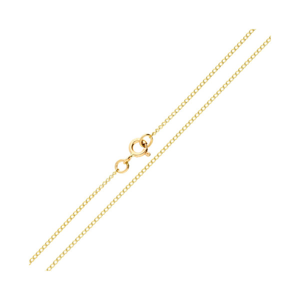9ct Yellow Gold 1.28mm Curb Chain