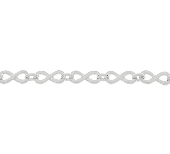 9ct White Gold Infinity Necklace