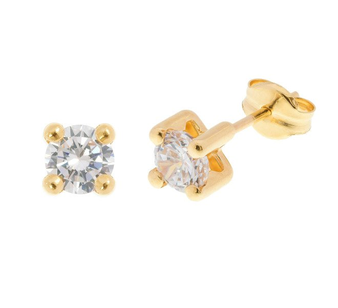 18ct Yellow Gold 0.50ct Diamond Solitaire Stud Earrings