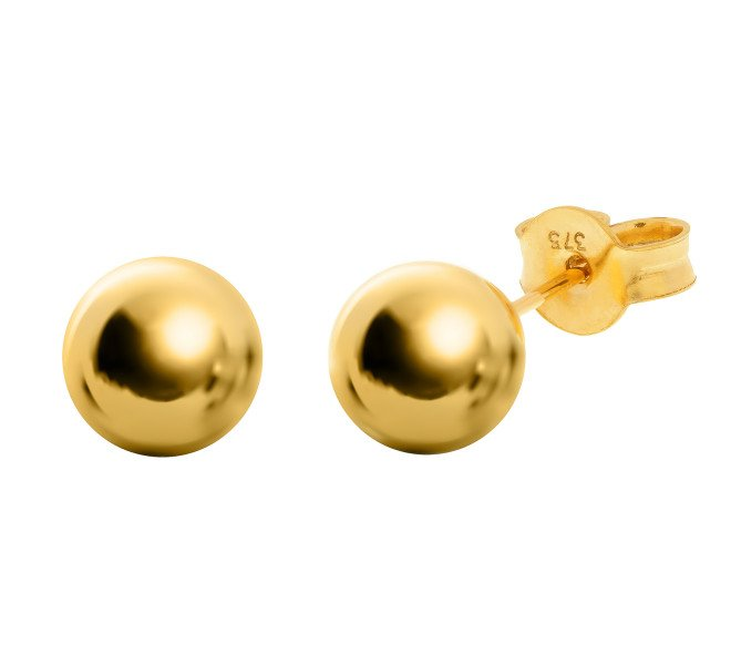 5e320c700 9ct Gold 7mm Ball Stud Earrings | Buy Online | Free Insured UK Delivery