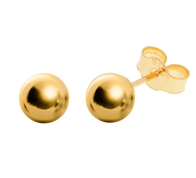 db47f0ce4 9ct Gold 5mm Ball Stud Earrings | Buy Online | Free Insured UK Delivery