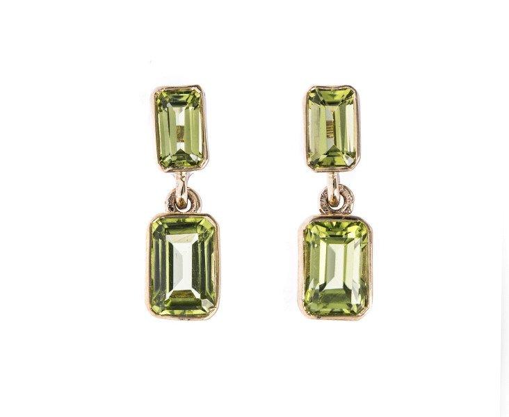 9ct Gold 2 04ct Peridot Drop Earrings