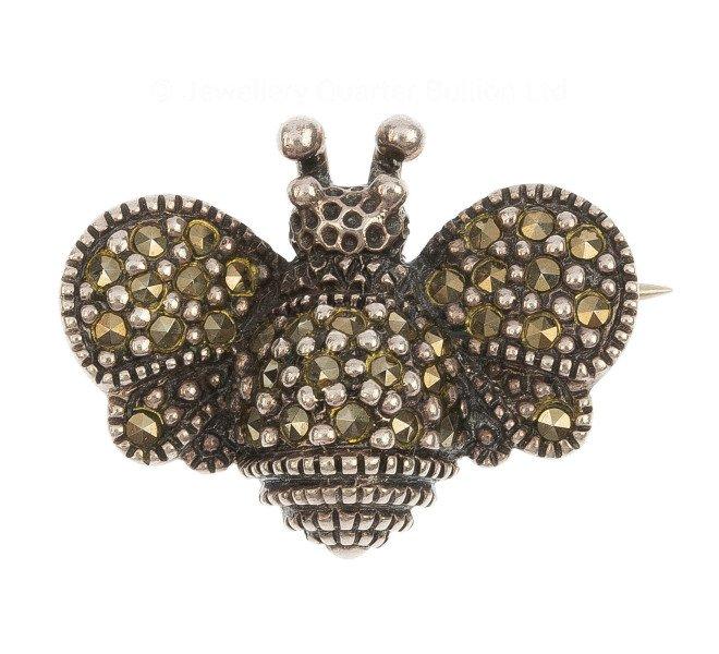 cbe4a4c325110 Vintage Silver Marcasite Bee Brooch   Buy Online   Free Insured UK ...
