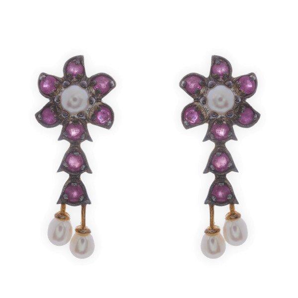 Pearl Ruby Earrings